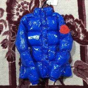 Women Moncler Blue Coat Jacket